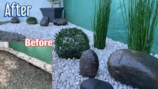 FRONT YARD LANDSCAPING MAKEOVER | PHILIPPINES | PEBBLES AND GRAVEL | LOW BUDGET | Aesthetics