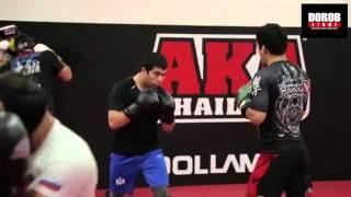 Муин «Таджик» готовится к бою в ONE Championship