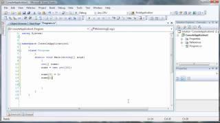 C# Tutorial - Declaring and adding data to Arrays