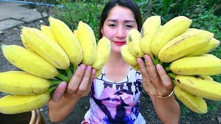 Yummy Banana Sweet Cooking - Banana Cooking - Cooking With Sros