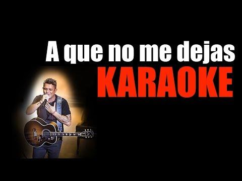 A que no me dejas Alejandro Sanz