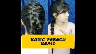 How to make Basic French Braid || DK Beauty Blogger