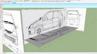 How to make car with sketchup setting car blueprint most popular sketchup car tutorial part 23 panels malvernweather Images