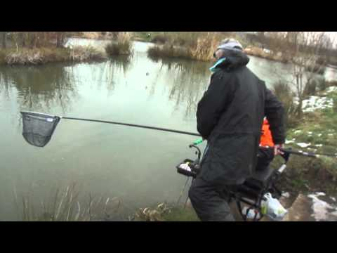 winter pole fishing at toms pond otley