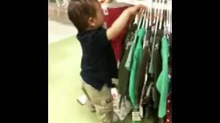 Nathan is shopping at Macy's!!!