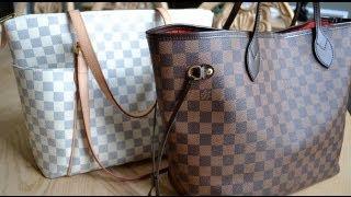 Louis Vuitton Totally Azur MM Vs Neverfull Damier MM | Handbag Comparison www.eliid.altervista.org