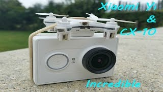 Cx-10 nano drone and gopro camera - Incredible very powerful mini drone - incroyable cx10c cx-10c
