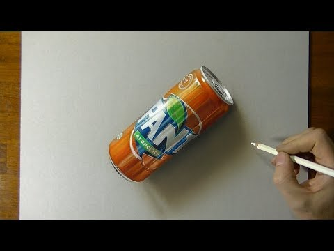 drawing 3d fanta how to draw 3d art tutorial