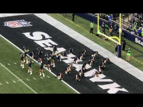 Seahawks Cheerleaders Dec 4th. 2016 Seahawks vs Panthers Football Game