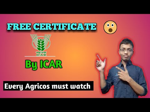 How to get FREE CERTIFICATE online in Agriculture | by ICAR | - Full details