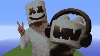 PSY Pixel Art Time Lapse Blocks Minecraft Most - Skin para minecraft pe de marshmello