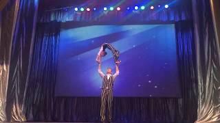 ЦИРК!!! Парная акробатика. Виктория Старикова и Александр Грезин.