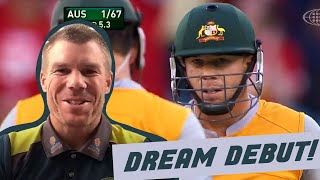 Warner reflects on his stunning Aussie debut