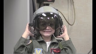 Kid With Leukemia Is Fighter Pilot For A Day