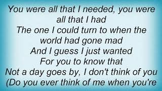 Anthony Callea - When You Were My Girl Lyrics