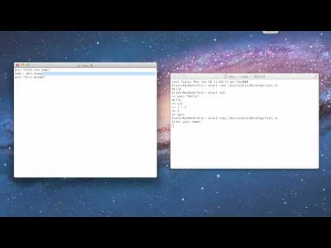 Ruby Tutorial 5 – Creating a Script
