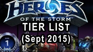 Heroes Of The Storm Tier list (Sept  2015 Rank 1 Hero League)