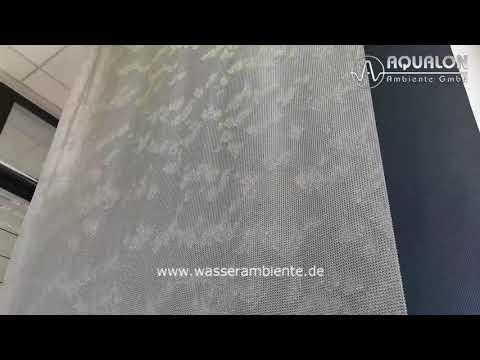 "Wasserwand ""Aqualon Skyfall"" aus Edelstahl Ringgewebe"