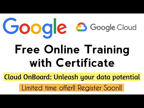 Google Free Online Training with Certificate | Cloud OnBoard ...