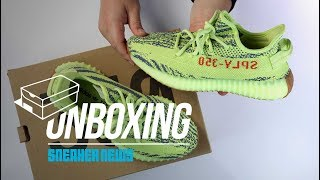 """Yeezy 350 V2 """"Semi Frozen Yellow"""" Unboxing + Review"""