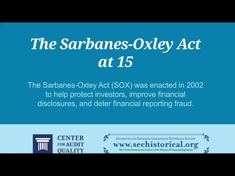 SOX and Financial Reporting - YouTube
