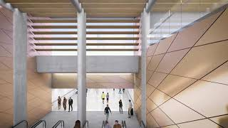 Sydney Metro Burwood North artists impression