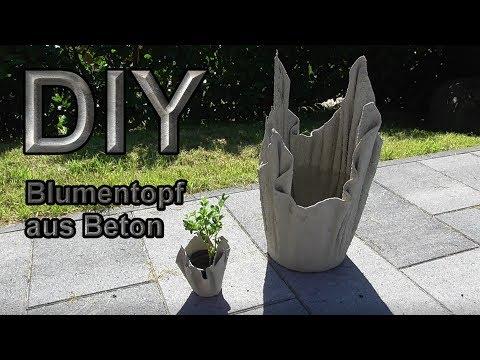 Blumenkübel aus betongetränten Tüchern selber machen – DIY Pflanzkübel kreativ mit Beton gießen