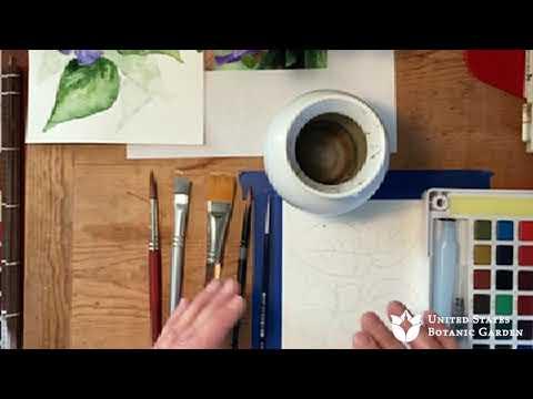 Early Spring Flowers in Watercolor (Online Art Workshop)