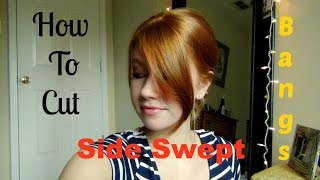 How To Cut Your Own Side Swept Bangs!