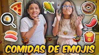 UM DIA INTEIRO SÓ COMENDO COMIDAS DE EMOJIS! - JULIANA BALTAR