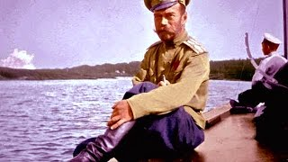 Редкая кинохроника в цвете 1913 - 1916 год. Император России Романов Николай Александрович
