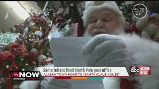 Santa letters flood North Pole post office