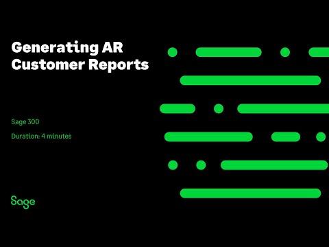 Sage 300 - Generating AR Customer Reports - YouTube