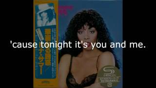 "Donna Summer - Dim All the Lights LYRICS SHM ""Bad Girls"" 1979"