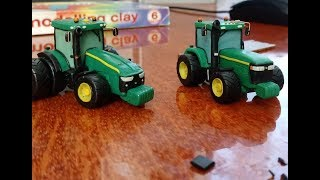 Лепим из пластилина трактор John Deere 8400 Tutorial how to sculpt tractor.