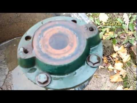 Wasserpumpe abbauen -  Garten winterfest machen