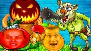 Растения против Зомби и зомби свиньи – Яркая красочная мультик игра про зомби и растения канал Ffgtv