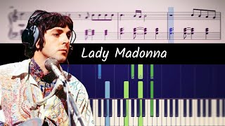 How to play the piano part of Lady Madonna by The Beatles