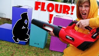 Flour Flamethrower PROP HUNT!! *EXTREME HIDE AND SEEK*