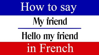 """Learn French 