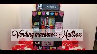 Easy DIY Valentine's Day Card Mailbox  - Vending Machine Mailbox - Paper To Masterpiece