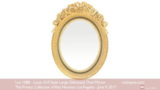 Louis XVI Style Large Giltwood Oval Mirror At Michaans Auctions