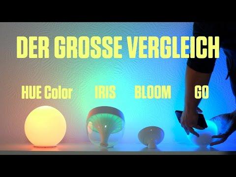 LivingColors Iris vs Bloom vs. Hue Go –Philips Hue Vergleich