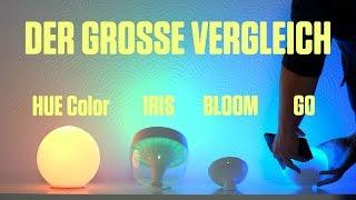 LivingColors Iris vs Bloom vs. Hue Go – Philips Hue Vergleich