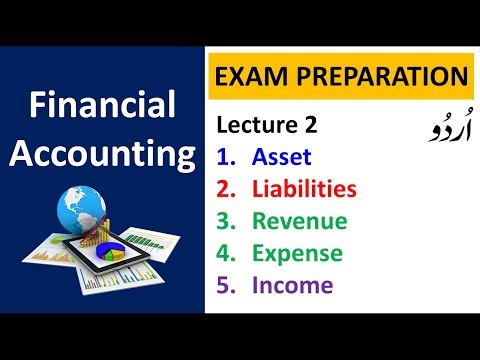 assets, liabilities, expenses, revenue and income in Financial Accounting - URDU / HINDI | Lecture 2