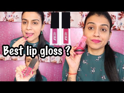 *New* NYKAA LIP GLOSS REVIEW | NYKAA Gloss It Up High Shine Lip Gloss Review | Nidhi Chaudhary