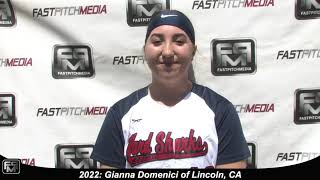 2022 Gianna Domenici Catcher Softball Skills Video - AASA Ayala