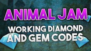 ANIMAL JAM - DIAMOND & GEM CODES 2016!