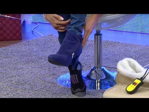 PEARL Kuschliges Fußmassagegerät mit Heizung, Fernbedienung