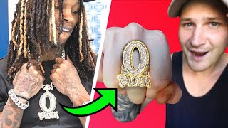I Made KING VON's O'BLOCK RING For ONLY $100! (EASY Jewelry Custom)